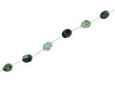Jadeite in Matrix Oval Bead Stand appx 15-16