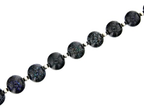 Black Andamooka Opal Appx 5.5mm - 10mm Graduated Rounds Bead Strand Appx 15-16