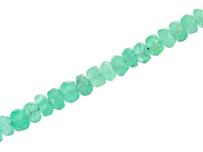 """Colombian Emerald Faceted Graduated Rondelle appx 3-4mm Bead Strand Appx 40 CTW Appx 15-16"""""""