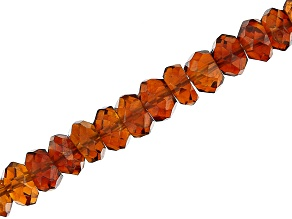 Madeira Citrine Faceted Rondelle Appx 3mm - 4.5mm Bead Strand Appx 15-16
