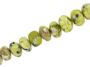 """Serpentine Smooth Rondelle Appx 5-7mm Bead Strand Appx 8"""" in length"""