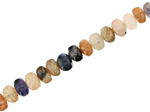 Sunstone with Iolite Appx 4-6mm Rondelle Bead Strand Appx 15-16