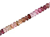 "Multi Color Spinel Faceted Rondelle Bead Strand Appx 15-16"" in length"