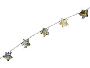 Labradorite Star Appx 10mm Bead Strand Appx 15-16
