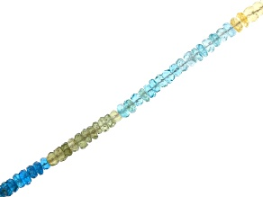"Multi Apatite Appx 4mm Faceted Rondelle Bead Strand Appx 15-16"" in length"