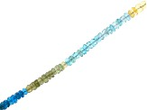 Multi Apatite Appx 4mm Faceted Rondelle Bead Strand Appx 15-16