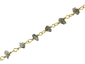 Shadow Grey Color Diamond Rosary Style Chain Appx 16
