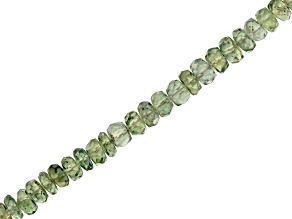Australian Green Sapphire Rondelle Bead Strand Appx 15-16
