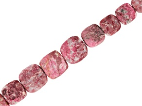 Thulite Bead Strand Appx 8