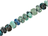 Peacock Rock Rondelle Bead Strand Appx 8