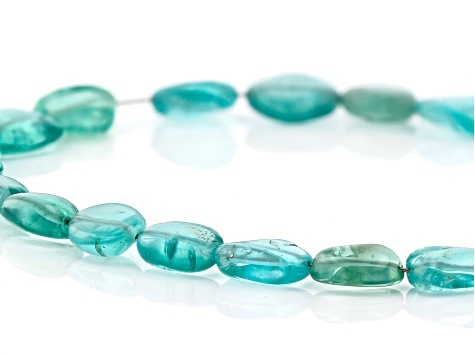 "Emerald Color Apatite Bead Strand Appx 15-16"" in length"