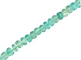 Emerald Color Apatite Faceted Rondelle Bead Strand appx 15-16