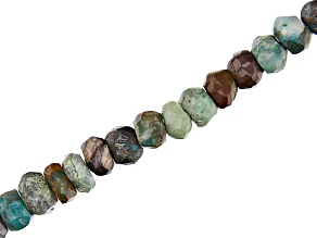 Peacock Rock in Matrix Rondell Appx 4-6mm Bead Strand Appx 15-16""