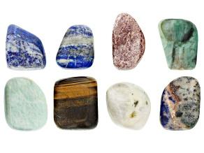 Multi Stone 1/4lb Tumbled Bead Parcel