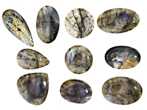 Labradorite 1/4lb Cabochon Parcel in Assorted Sizes