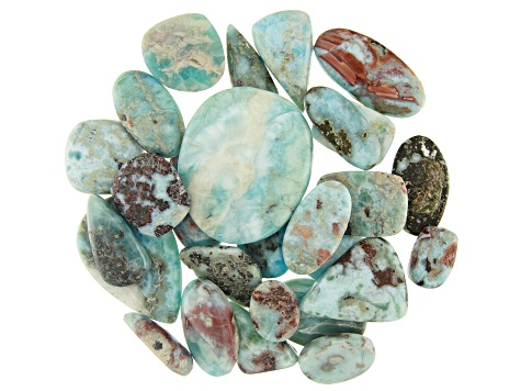 Larimar 1/4lb Cabochon Parcel in Assorted Sizes
