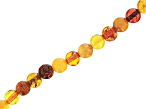 "Amber Round Appx 5-6mm Bead Strand Appx 15-16"" in length"
