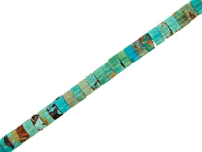 "Turquoise Wheel Appx 4mm Bead Strand Appx 15-16"" in length"