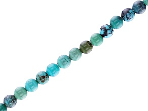 "Turquoise Round Appx 2mm Bead Strand Appx 15-16"" in length"