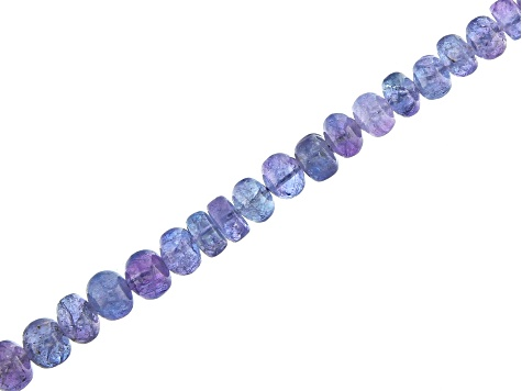 Tanzanite Smooth Rondelle Appx 3-6mm Bead Strand Appx 18