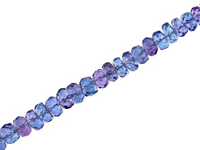 Tanzanite Faceted Rondelle Appx 4mm Bead Strand Appx 15-16