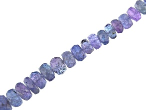 "Tanzanite Faceted Rondelle Appx 4.5-7mm Bead Strand Appx 15-16"" in length Appx 120-125 CTW"
