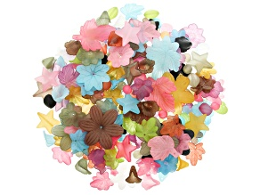 1/2lb Resin Beads in Assorted Shapes and in Various  Colors and Sizes