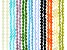 Czech Glass Appx 6mm Bicone Bead Strand Set of 20 in 10 Assorted Colors Appx 6