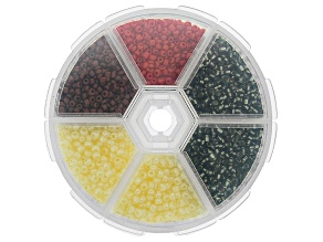 Seed Bead Set in Assorted Sizes and Colors in Storage Case