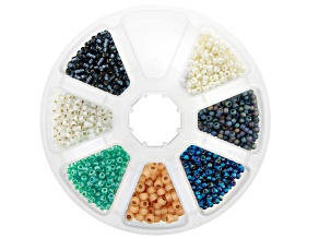 Seed Bead Kit in Assorted Colors with Storage Case