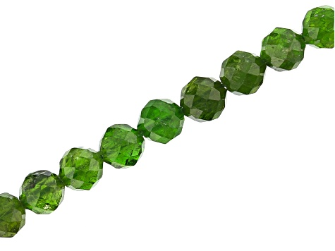 Chrome Diopside Appx 5mm Faceted Round Bead Strand Appx 14-15