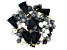 Akola Karatasi Paper Bead, Tassel, and Charm Kit in Black and White Colorway 168 Pieces Total