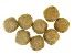 Akola Chain Appx 1.5mm Wrapped Bicone Beads in Gold Tone 8 Pieces Total