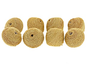 Akola Chain Appx 1mm Wrapped Bicone Beads in Gold Tone 8 Pieces Total