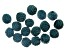 Akola Leather Wrapped Beads in Iris 18 Pieces Total