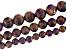 Purple Mosaic Quartz Appx 6, 8, & 10mm Round Bead Strand Set of 3