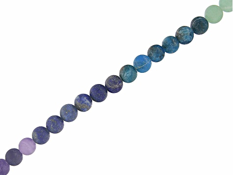 Matte Colors of the Chakra Appx 8mm Round Bead Strand Appx 15-16