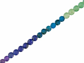 "Colors of the Chakra Appx 8mm Round Large Hole Bead Strand Appx 15-16"" in length"