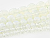 "Opalite Appx 4, 6, 8, 10, & 12mm Faceted Round Bead Strand Set of 5 Appx 15-16"" in length"