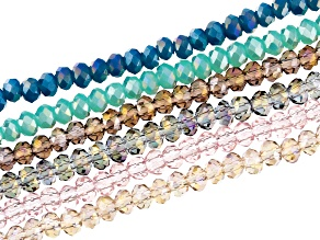 Chinese Crystal Faceted Rondelle Appx 2x3mm Bead Strand Set of 6 Appx 15-16
