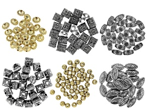Textured Electroform Bead Kit in 6 Styles 175 Pieces Total