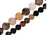 Arizona Petrified Wood Appx 6mm & 8mm Round Bead Strand Set of 2 Appx 15-16