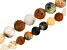Matte Golden Sage Agate Appx 6mm & 8mm Round Bead Strand Set of 2 Appx 15-16