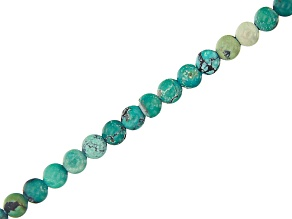 "Turquoise Appx 3mm Round Bead Strand Appx 15-16"" in length"