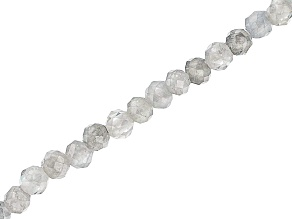 Zircon Appx 2mm Diamond Cut Round Bead Strand Appx 15-16