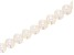 White Cultured Freshwater Pearl Appx 6-7mm Potato Shape Bead Strand Appx 8