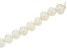 Large Hole White Cultured Freshwater Pearl Appx 8-10mm Potato Shape Bead Strand Appx 8