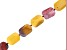 Mookaite Appx 13x18mm-16x22mm Graduated Faceted Rectangle Bead Strand