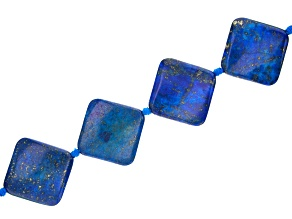 "Lapis Lazuli Appx 30mm Kite Shape Bead Strand Appx 15-16""  in length"
