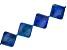 "Lapis Lazuli Appx 30mm Kite Shape Bead Strand Appx 15-16""  in length"